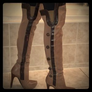 Marciano over the knee leather boot.   Leather